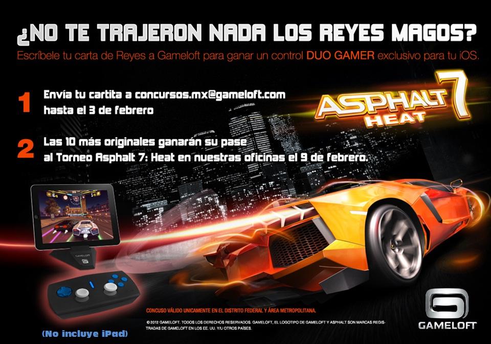 ¡Gameloft estrena concurso en el que regalará un control exclusivo DUO GAMER en el torneo Asphalt 7: Heat!