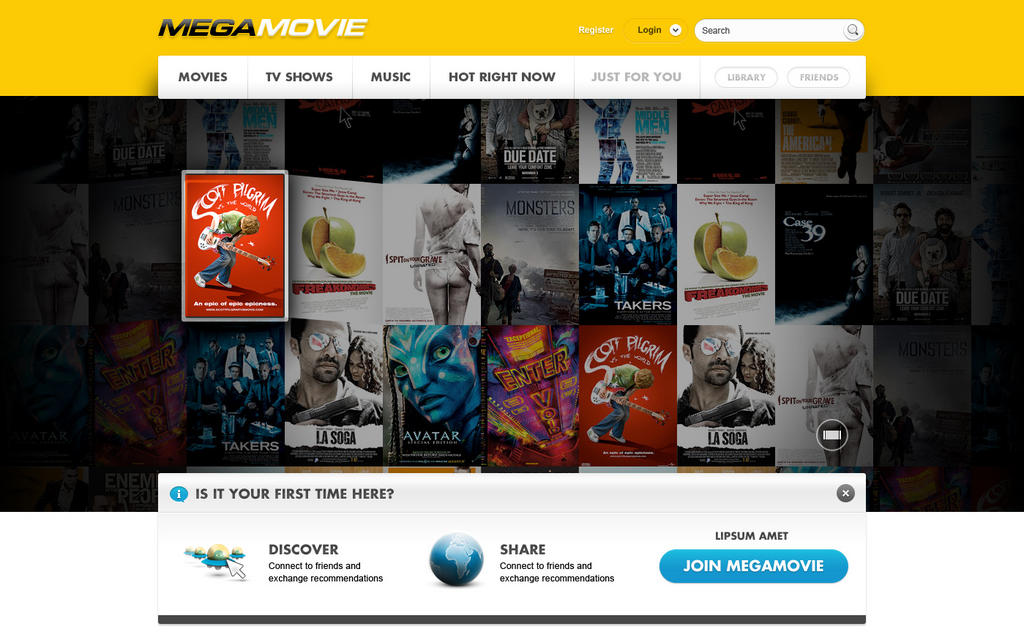 MEGAMOVIE: el sitio de películas del creador de MEGA