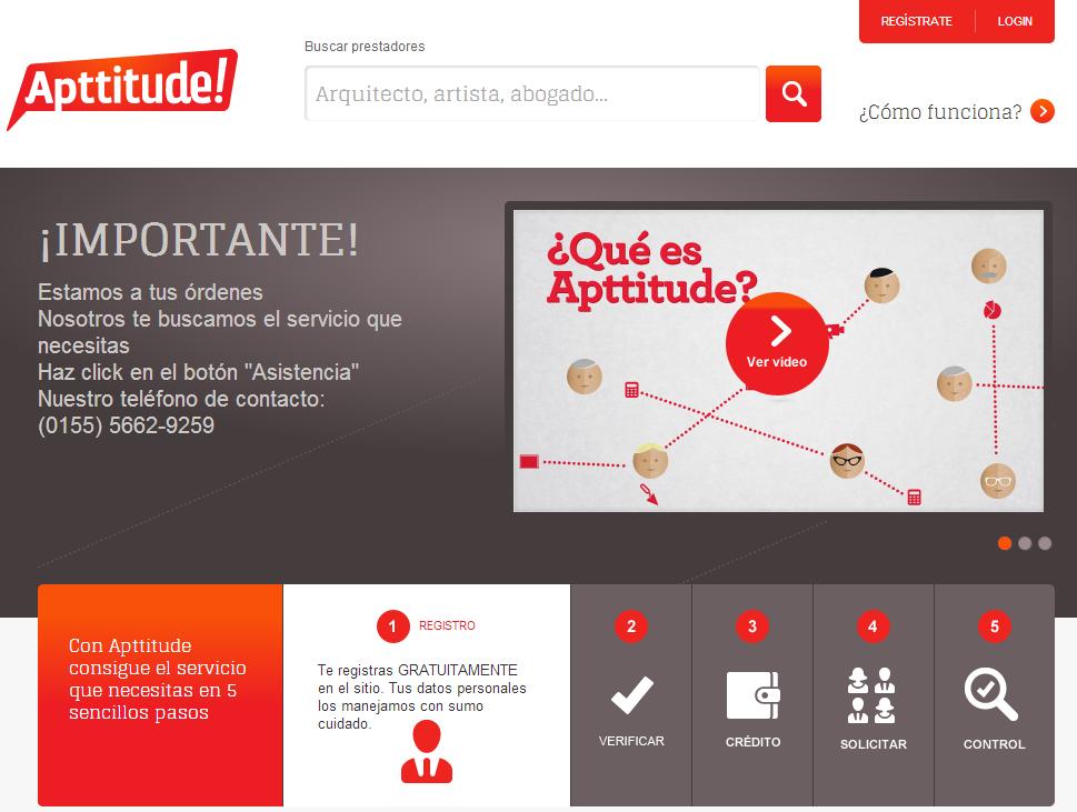 Apttitude, sitio mexicano para el intercambio de servicios