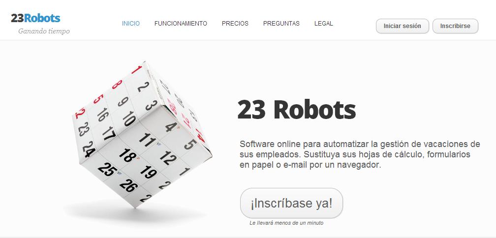 23Robots: herramienta para PYMES que facilita la gestión de vacaciones