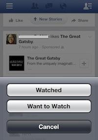"""Facebook crea los botones """"Visto"""" y """"Quiero verlo"""" para los vídeos publicitarios"""