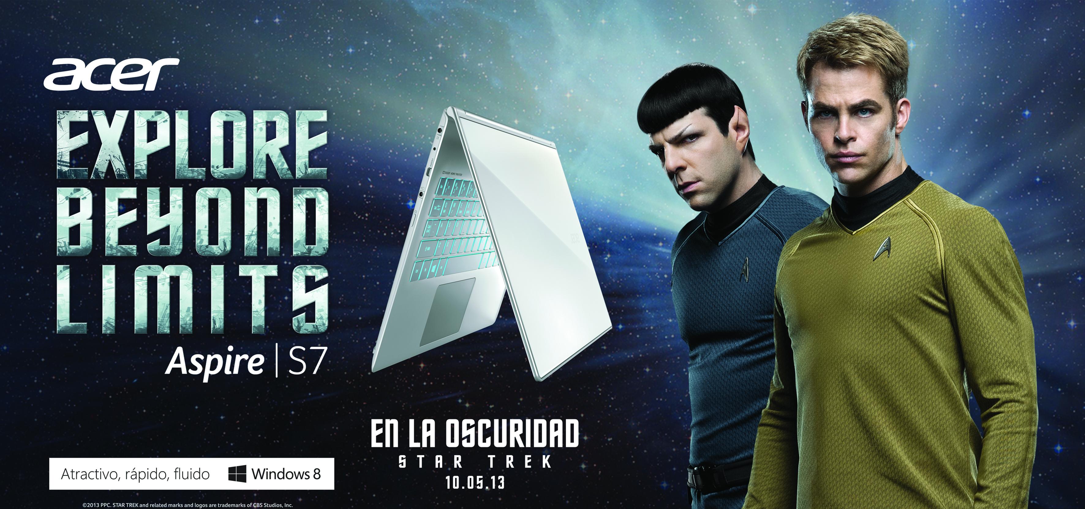 """Acer y Paramount Pictures unidos en la promoción de productos Acer móviles y la película """"Star Trek en la oscuridad"""""""