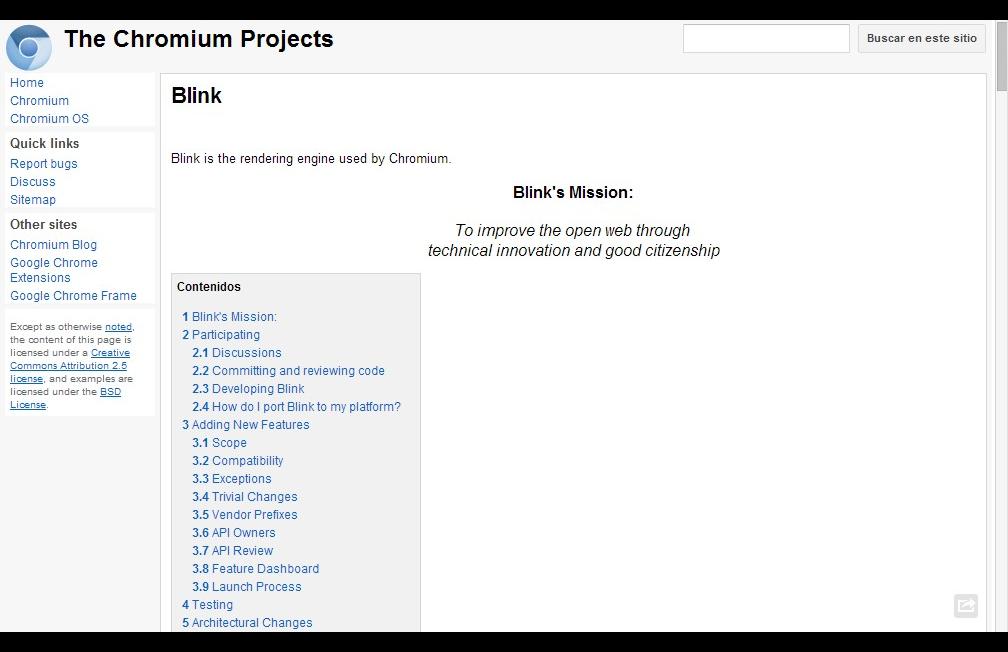 Blink en nuevo motor para Chrome