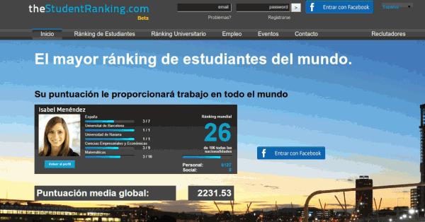 thestudentranking.com: proyecto para clasificar a los jóvenes estudiantes
