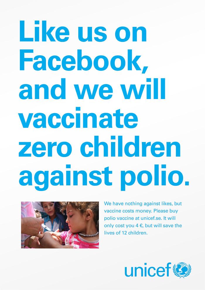 """La Unicef aclara: los """"me gusta"""" de Facebook no salvan vidas"""
