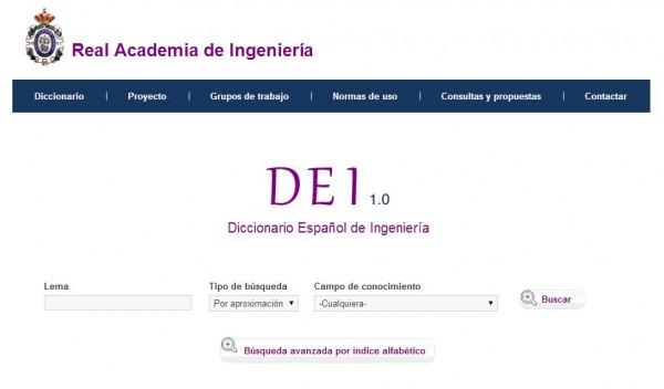 El Diccionario Español de Ingeniería