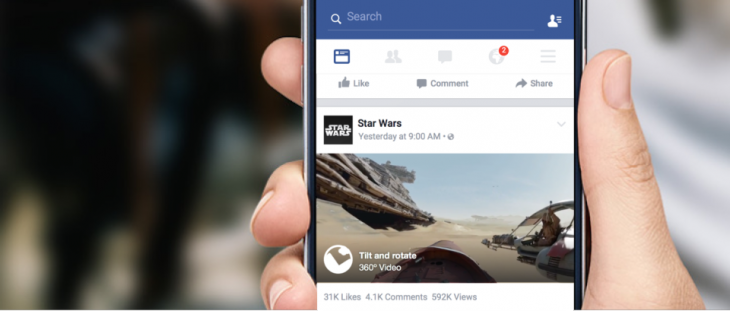 Facebook ya soporta videos a 360º en los muros de los usuarios